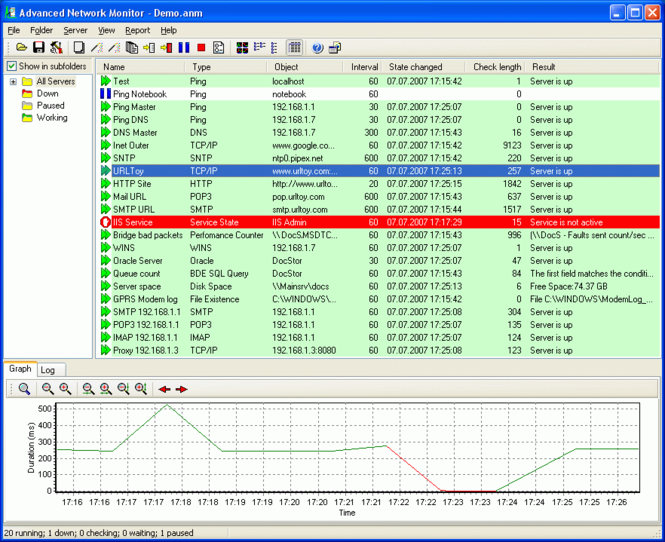 Advanced Network Monitor Screenshot