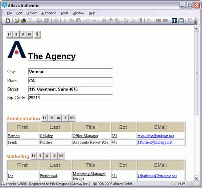 Altova Authentic Screenshot 1