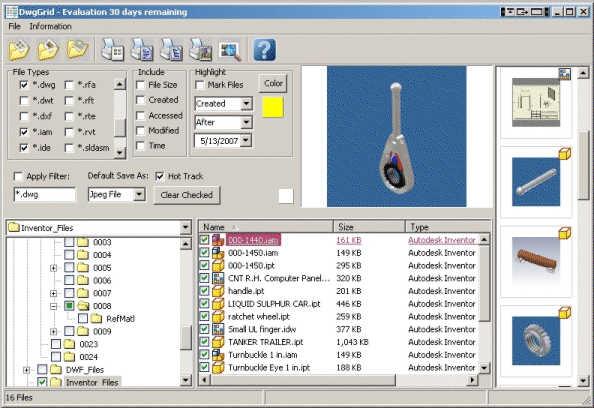 DwgGrid Screenshot