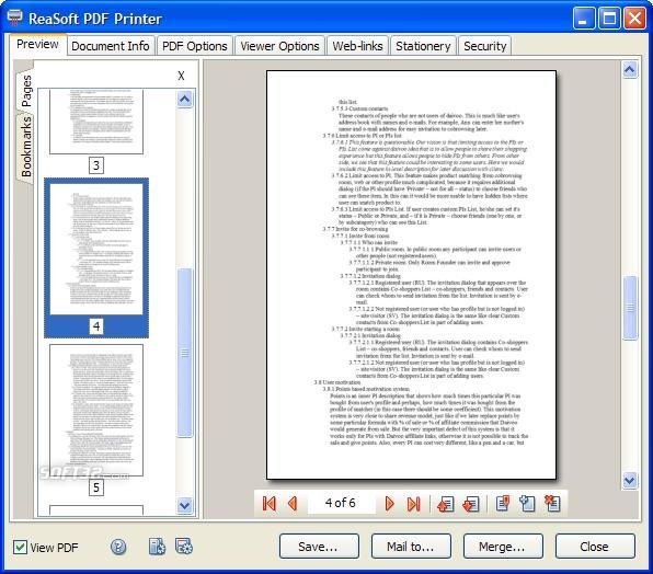 ReaSoft PDF Printer Server Edition Screenshot 2