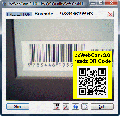 bcWebCam Read Barcode with Web Cam Screenshot