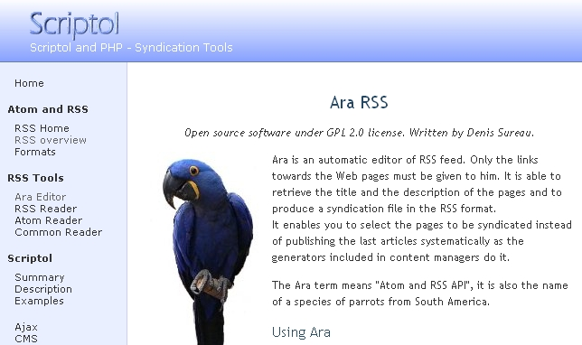 ARA Editor Screenshot