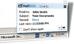 Mailinfo Screenshot