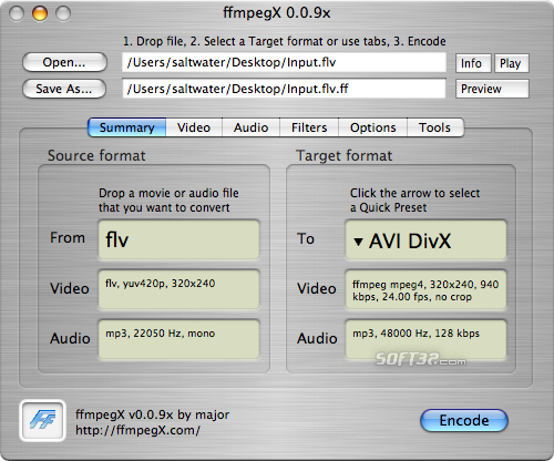 ffmpegX Screenshot 2
