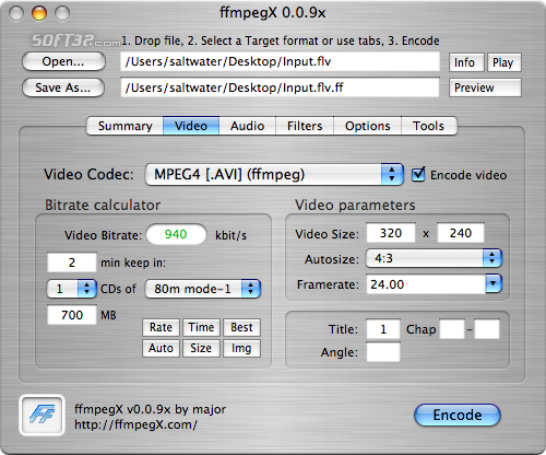 ffmpegX Screenshot 3