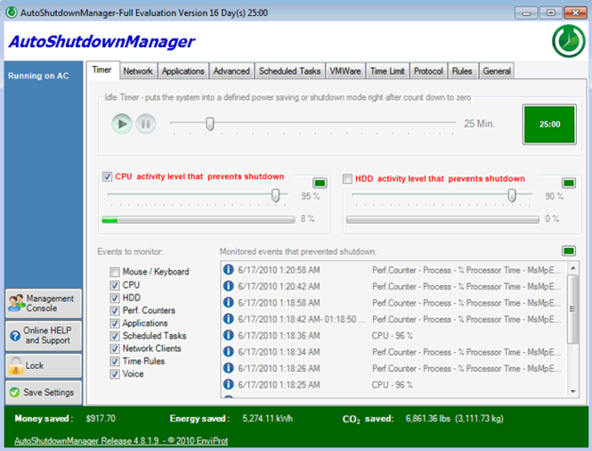 Auto Shutdown Manager Screenshot 1