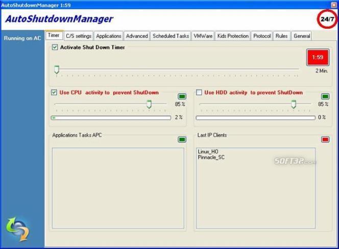 Auto Shutdown Manager Screenshot 2
