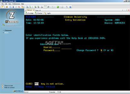 z/Scope TN3270 Screenshot 2