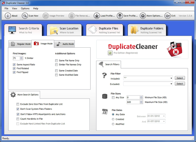 Duplicate Cleaner Free Screenshot 1