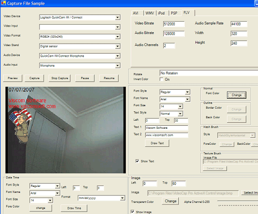 VISCOM Video Capture FLV MP4 SDK ActiveX Screenshot 3