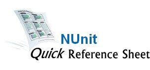 NUnit Cheat Sheet Screenshot