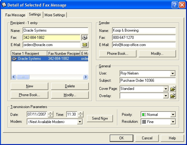 ActFax Screenshot