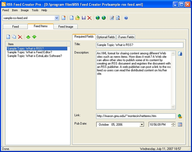 RSS Feed Creator PRO Screenshot 1