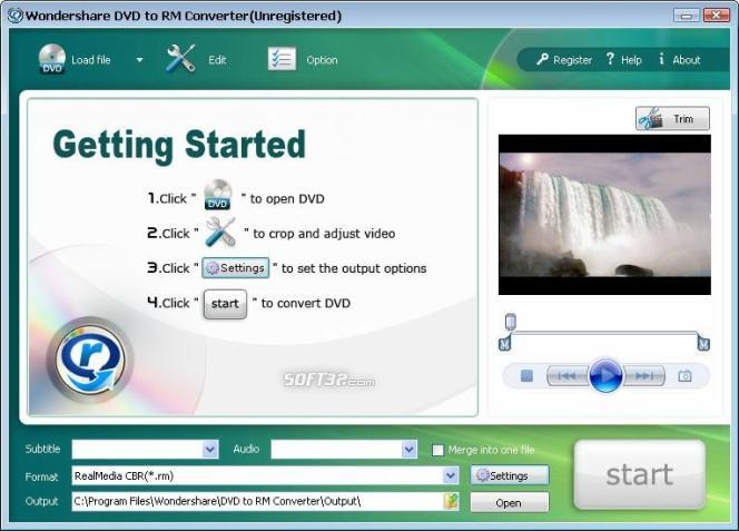 Wondershare DVD to RM Converter Screenshot 1