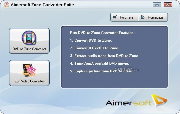 Aimersoft Zune Converter Suite Screenshot 1