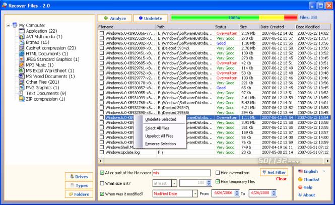 Recover Files Screenshot 3
