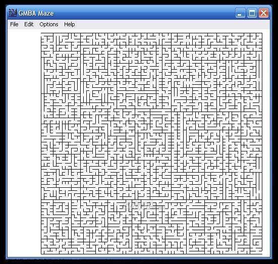 GMBA Maze Screenshot