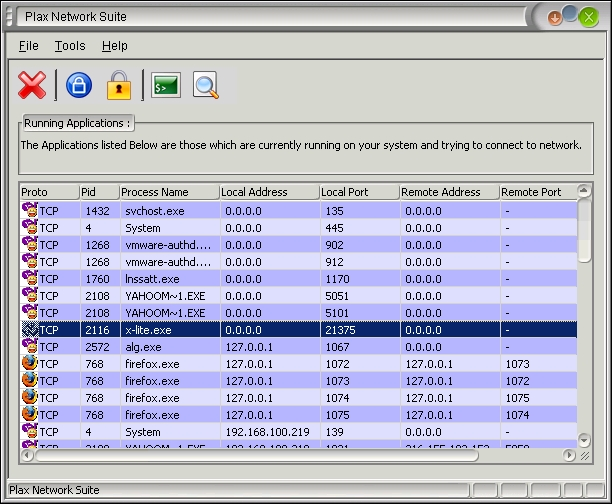 Plax Network Suite Screenshot