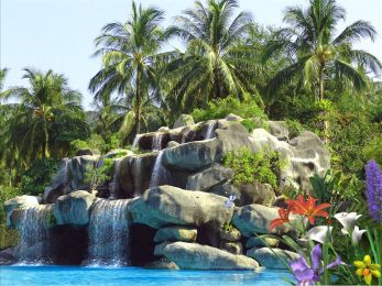 Tropic Waterfall Screenshot