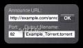 CreateTorrent Widget 2