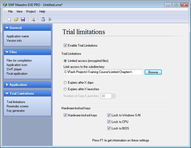 SWF Maestro EXE PRO Screenshot