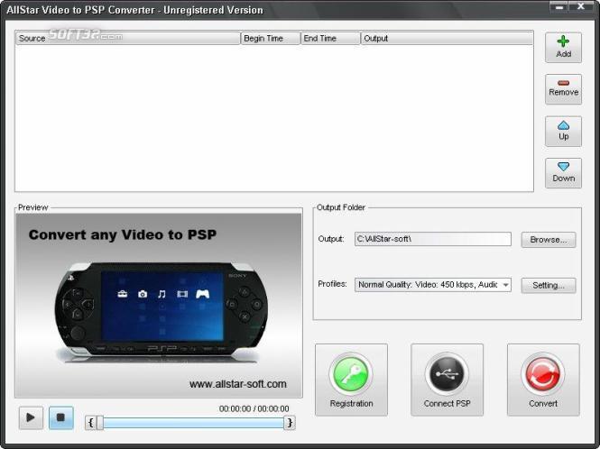 AllStar Video to PSP Converter Screenshot 2