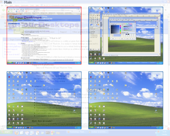 FourDesktops Screenshot