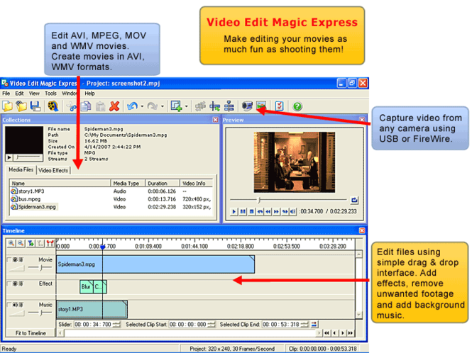 Video Edit Magic Express Screenshot