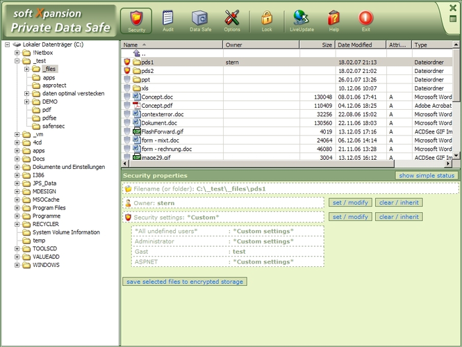 Private Data Safe Screenshot