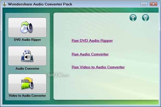 Wondershare Audio Converter Pack Screenshot