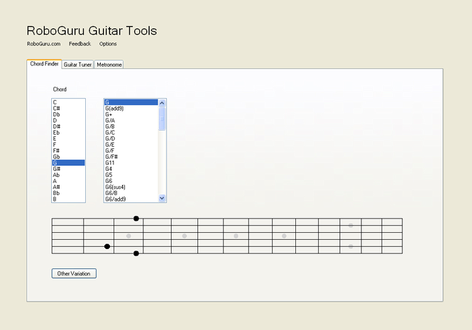 RoboGuru Guitar Tools Screenshot
