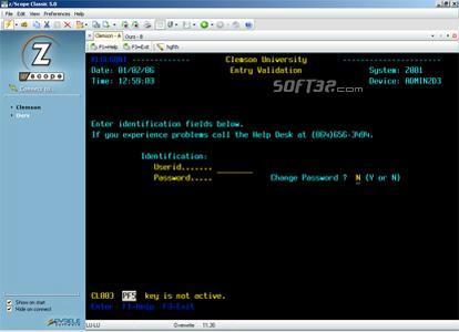 z/Scope TN5250 Screenshot 2