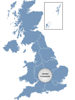 Golden UK Map Screenshot 1