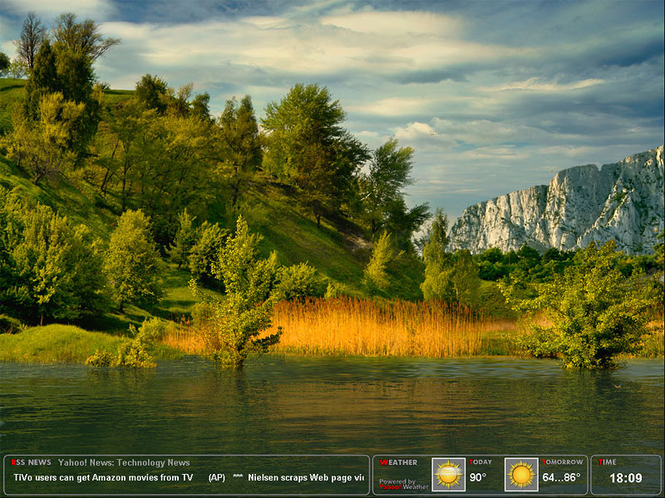 Amazing Lake Screensaver Screenshot