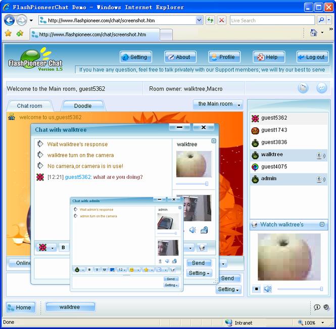 Flash Video Chat Screenshot 1