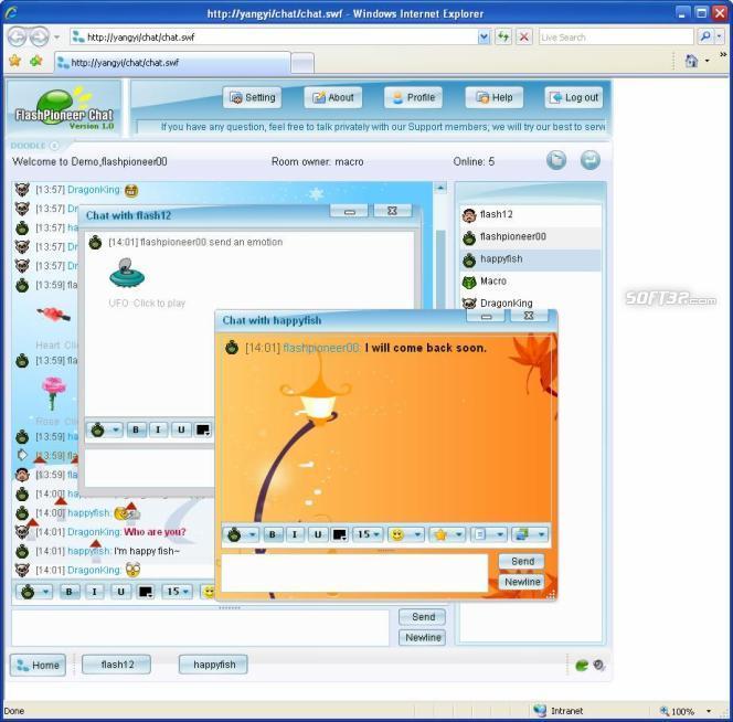 Flash Video Chat Screenshot 3