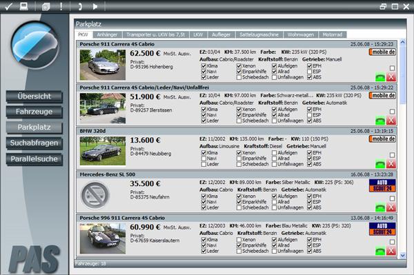 PAS - Professionelle Autosuche Screenshot 1