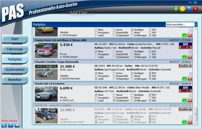 PAS - Professionelle Autosuche Screenshot 3