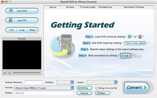 iSkysoft DVD to iPhone Converter for Mac Screenshot 2