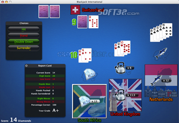 Blackjack International Screenshot