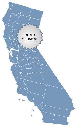 Locator Map of California Screenshot 1