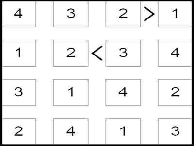 100 Futoshiki Puzzles Screenshot