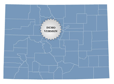 Locator Map of Colorado Screenshot