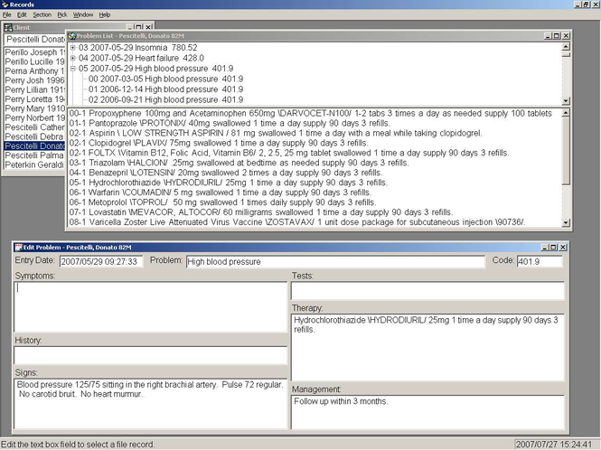 Records - Problem Oriented Wordprocessor Screenshot 1