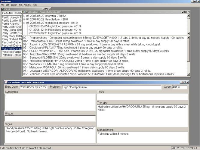 Records - Problem Oriented Wordprocessor Screenshot