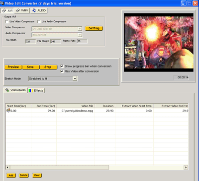 VISCOM Video Edit Converter Screenshot