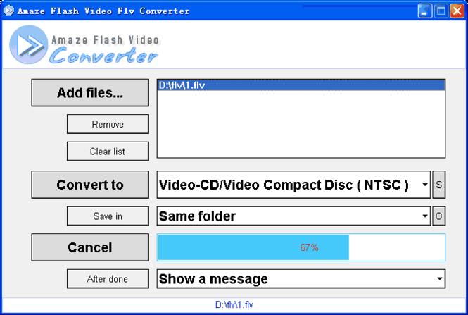 Amaze Flv Converter Screenshot 1