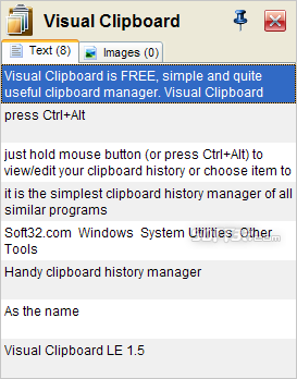 Visual Clipboard LE Screenshot 3
