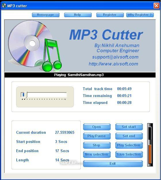 AIV MP3 Cutter Screenshot 3