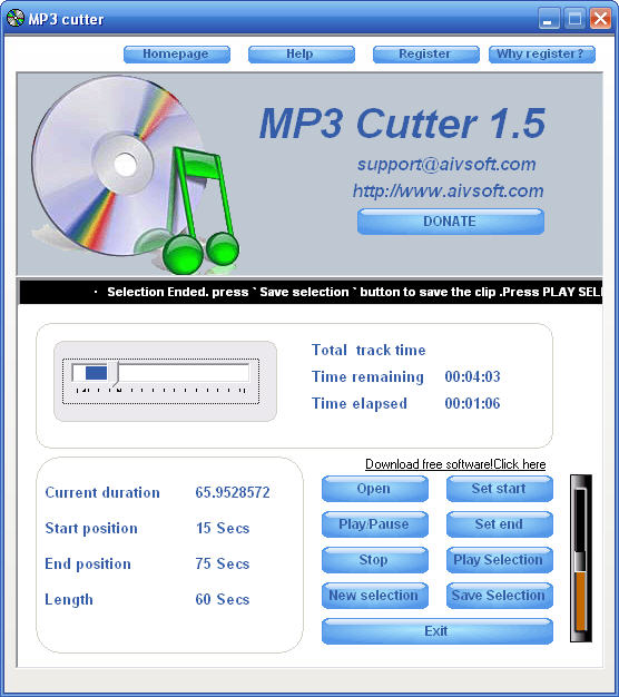 AIV MP3 Cutter Screenshot 2
